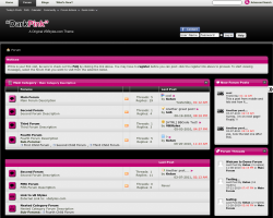 DarkPink 4.x vBulletin Theme