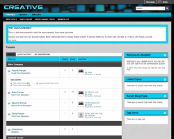 Creative Cyan 5.x vBulletin Template