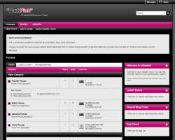 DarkPink 5.x vBulletin Template