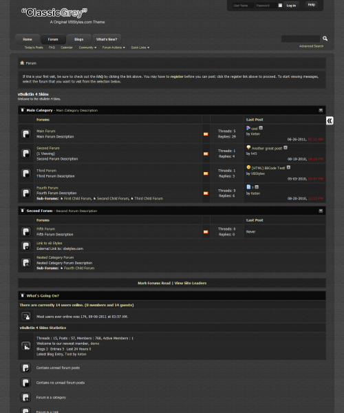 ClassicGrey 4.x vBulletin Theme - Forum Home