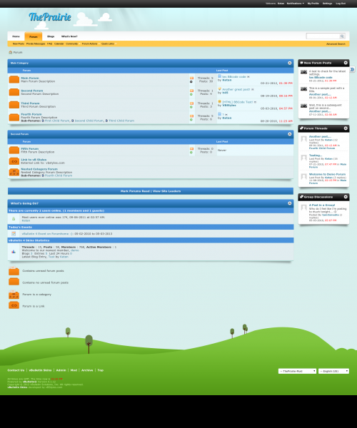 ThePrairie 4.x vBulletin Skin - Forum Home