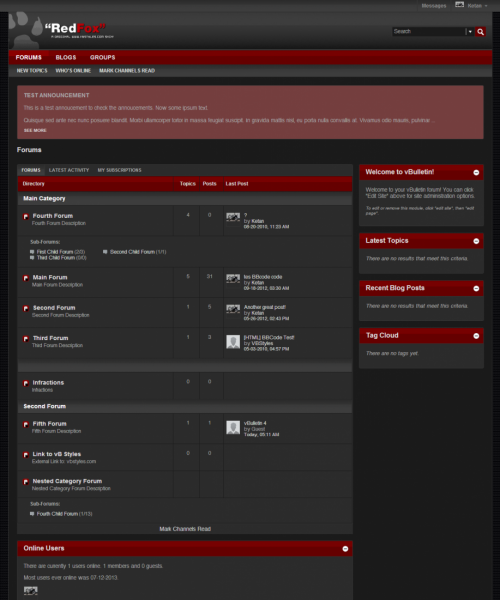 RedFox 5.x vBulletin Template - Forum Home